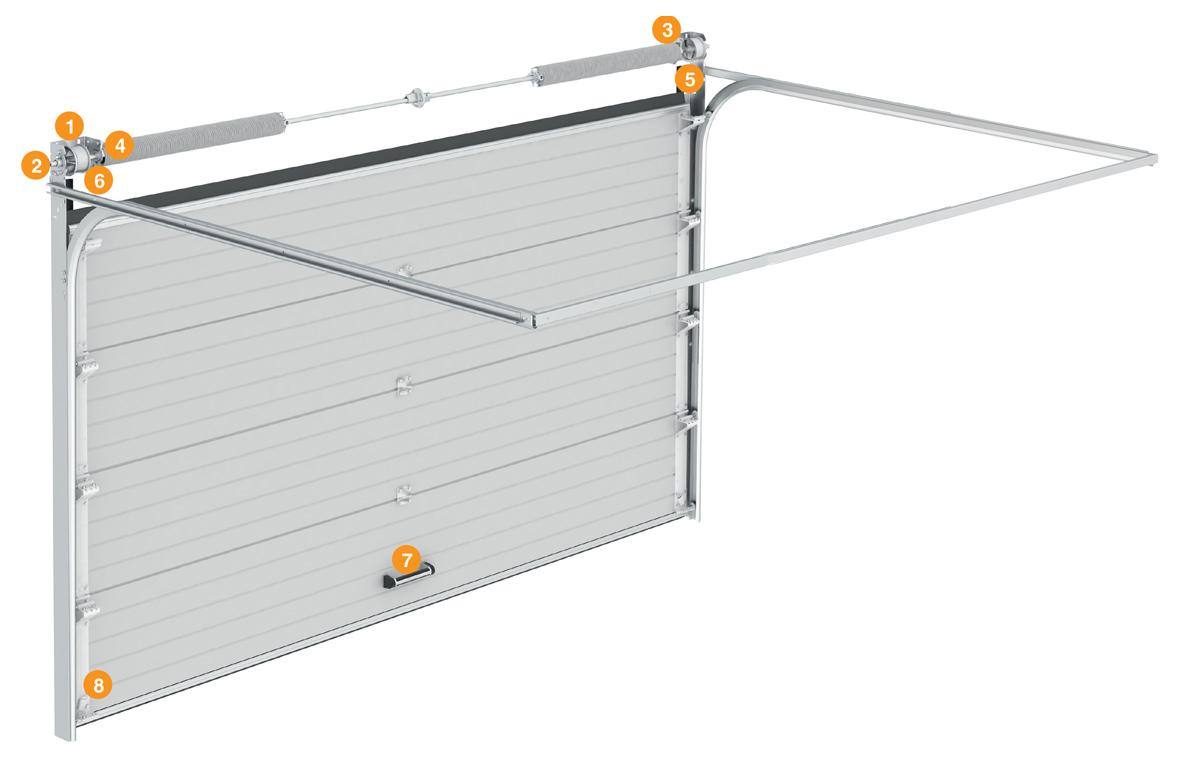 Конструкция гаражных секционных ворот КЛАССИК